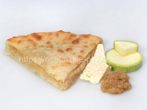 Осетинские пироги С кабачками, сыром и жареным луком