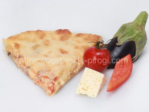 Осетинские пироги в Москве с доставкой С баклажаном, помидором, болгарским перцем и сыром
