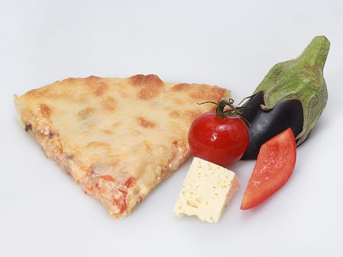 Осетинские пироги С баклажаном, помидором, болгарским перцем и сыром