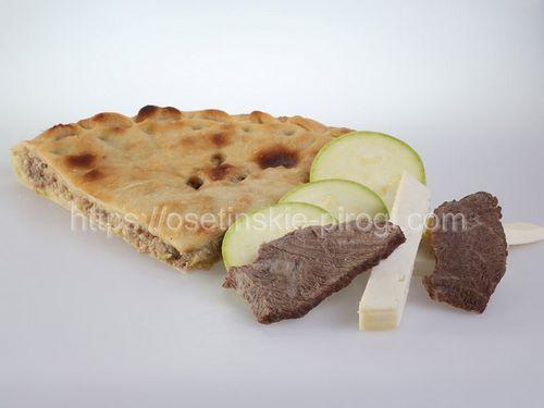 Осетинские пироги в Москве с доставкой С говядиной, кабачками и сыром