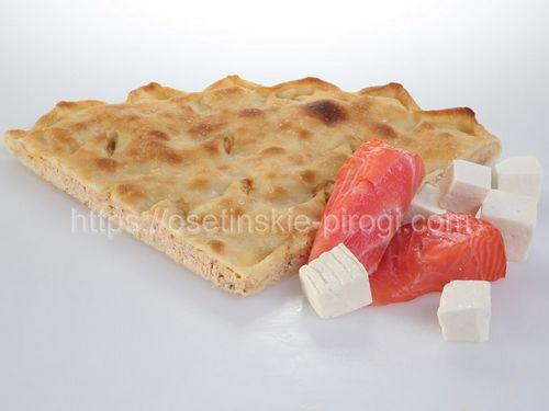 Осетинские пироги в Москве с доставкой С лососем и сыром
