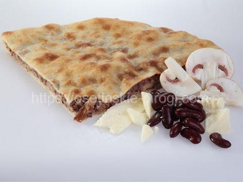 Осетинские пироги в Москве с доставкой С фасолью, грибами и сыром