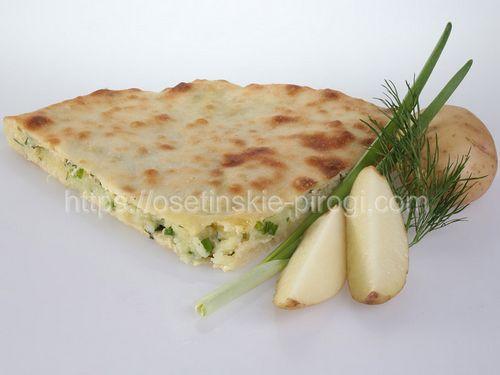 Осетинские пироги в Москве с доставкой С картофелем и зеленью
