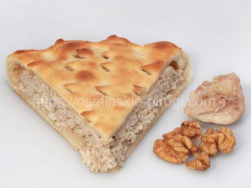Осетинские пироги С курицей и грецким орехом