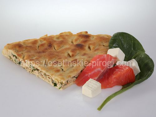 Осетинские пироги в Москве с доставкой С лососем, сыром и шпинатом