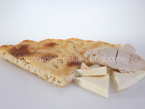 Осетинские пироги в Москве с доставкой С индейкой и сыром