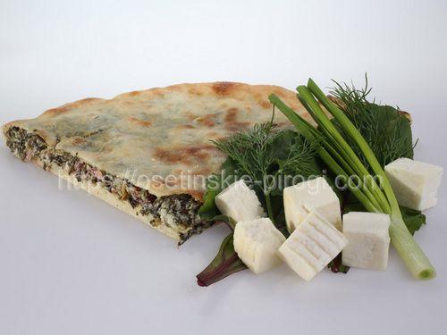 Осетинские пироги в Москве с доставкой Со свекольными листьями, сыром и зеленью