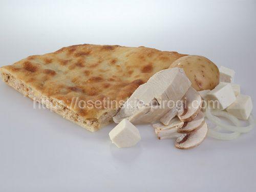 Осетинские пироги в Москве с доставкой С сыром, картофелем, грибами, курица и лук