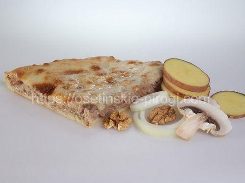 Осетинские пироги в Москве с доставкой С картофелем, грибами, жареным луком и грецким орехом