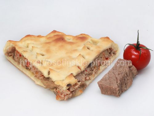 Осетинские пироги С говядиной и помидором