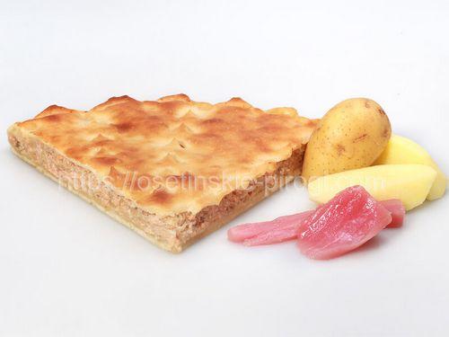 Осетинские пироги С лососем и картофелем
