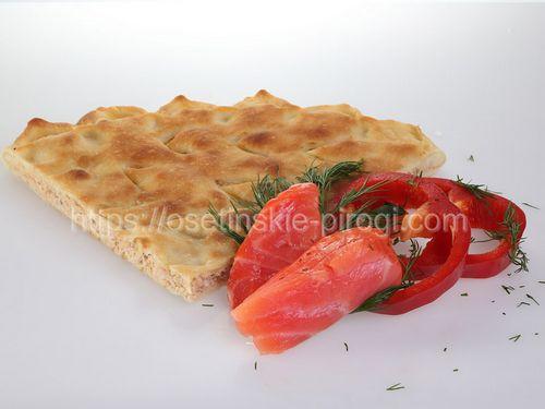 Осетинские пироги С лососем и овощами