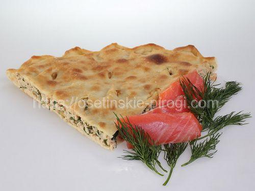 Осетинские пироги С лососем и зеленью