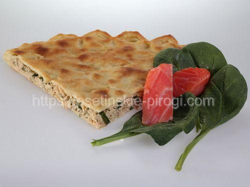 Осетинские пироги С лососем и шпинатом