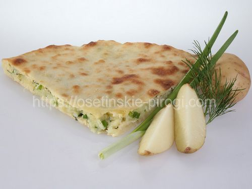 Осетинские пироги С картофелем и зеленью