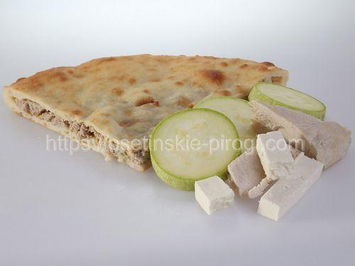 Осетинские пироги С курицей, кабачками и сыром