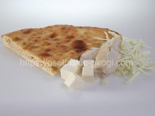 Осетинские пироги С индейкой, капустой и сыром