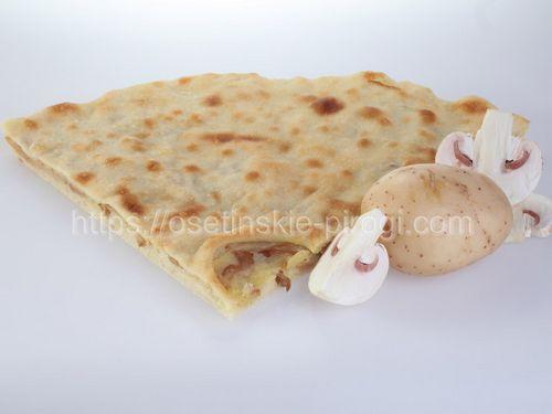 Осетинские пироги С картофелем, грибами и луком