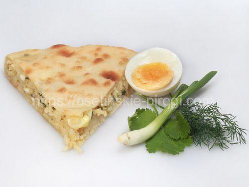 Осетинские пироги в Москве с доставкой С рисом, яйцом, луком и зеленью